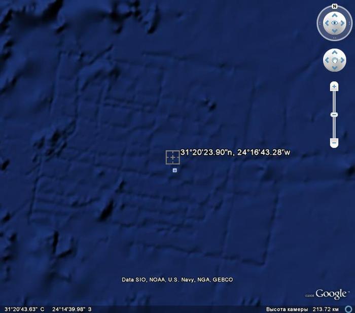 остатки древней цивилизации в океане